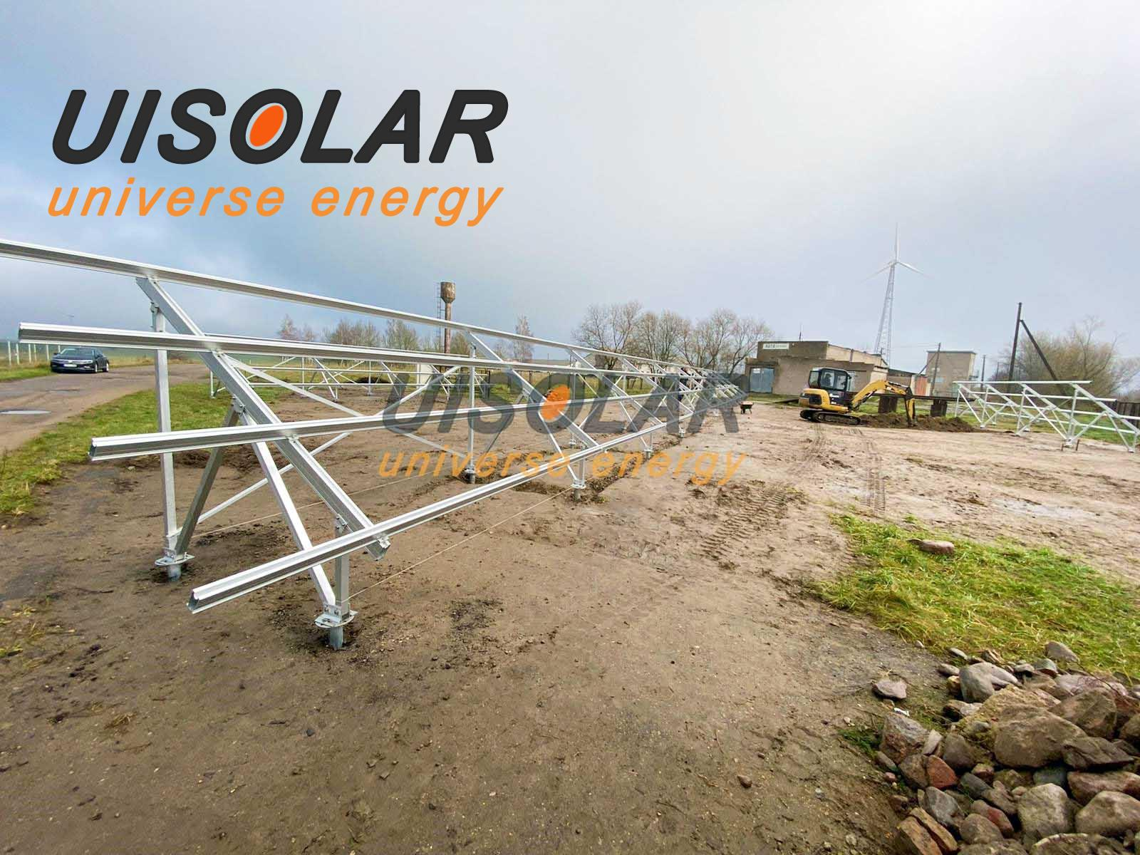 100kw ground mount project in Lithuania